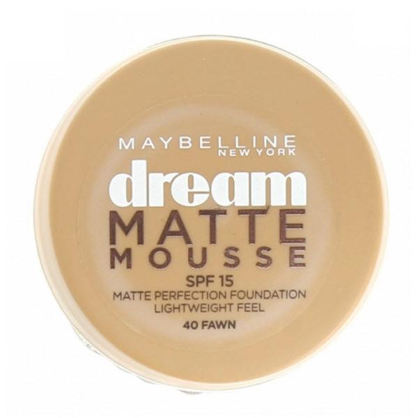 FOND DE TEINT DREAM MATTE MOUSSE SPF 15 GEMEY MAYBELLINE